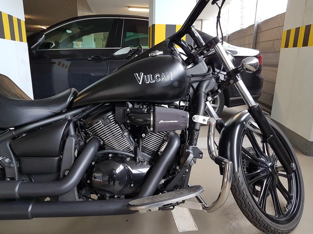 Kawasaki Vulcan 900 (gloss black) | ForceWinder Performance Intakes and Exhaust