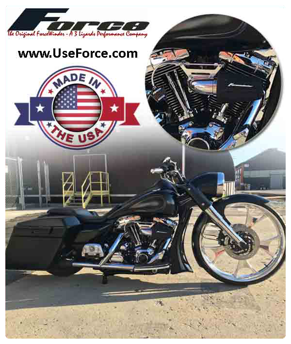 Harley Davidson with Magneti Marelli Fuel Inject and ForceWinder Intake